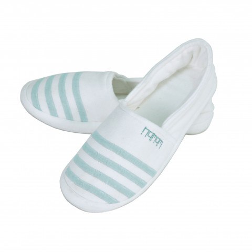 WHITE/ STEEL BLUE
