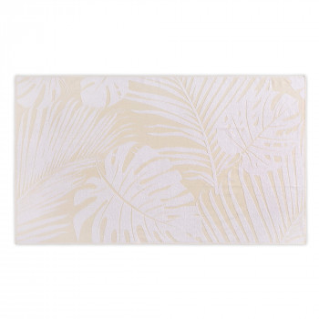 SERVIETTE DE PLAGE LEAVES JACQUARD