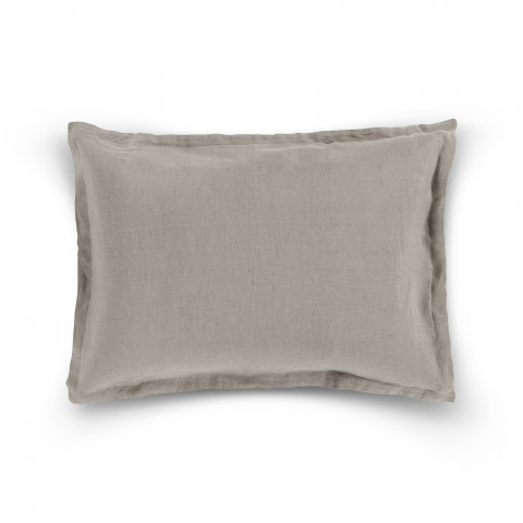 TAIE D'OREILLER DECORATIVE WRINKLE WASHED LIN