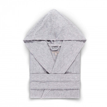 ASH LIGHT HOODED BATHROBE