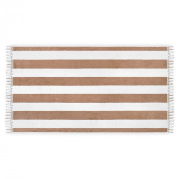 CABANA STRIPED TASSELS BEACH TOWEL